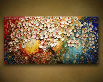 High Quality  Abstract knife Oil Painting on Canvas pictures decor  home decoration paintings for living room wall no framed