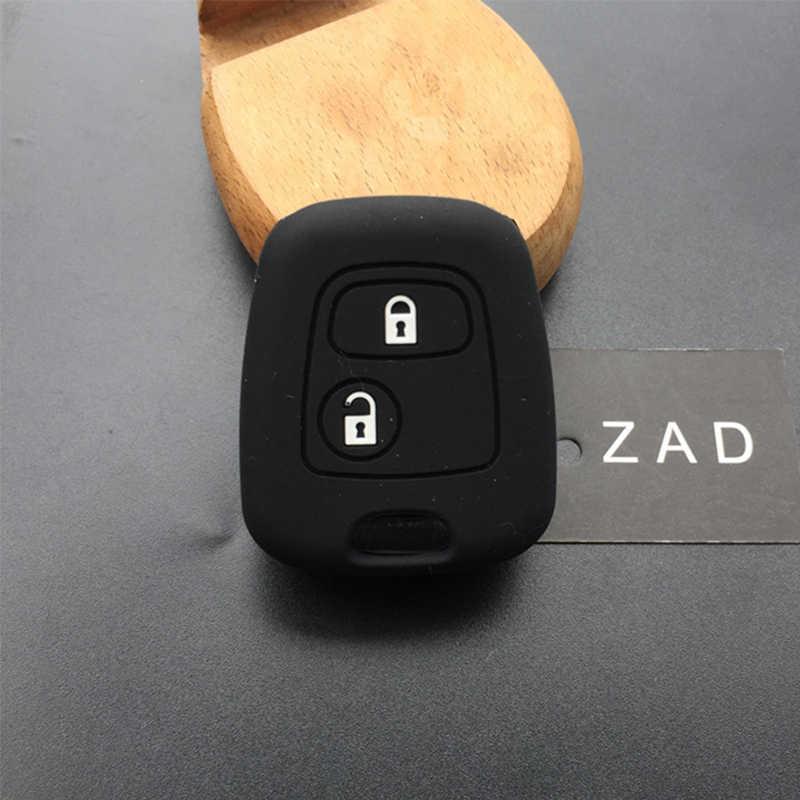 ZAD de silicona coche caso clave para Peugeot 107, 106, 207, 206, 408, 307 para Citroen c4 c2 c3 c5 berlingo Xsara Picasso Aygo
