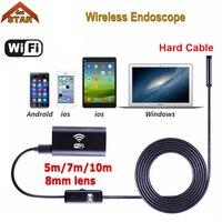 Stardot 8LED 5m 7m 10m Hard Flexible Snake USB WIFI Endoscope Camera HD 720P 8mm OD