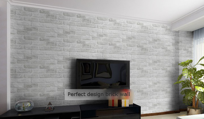 Aliexpress Buy D Embossed Feature Brick Wallpaper Texture, Living Room
