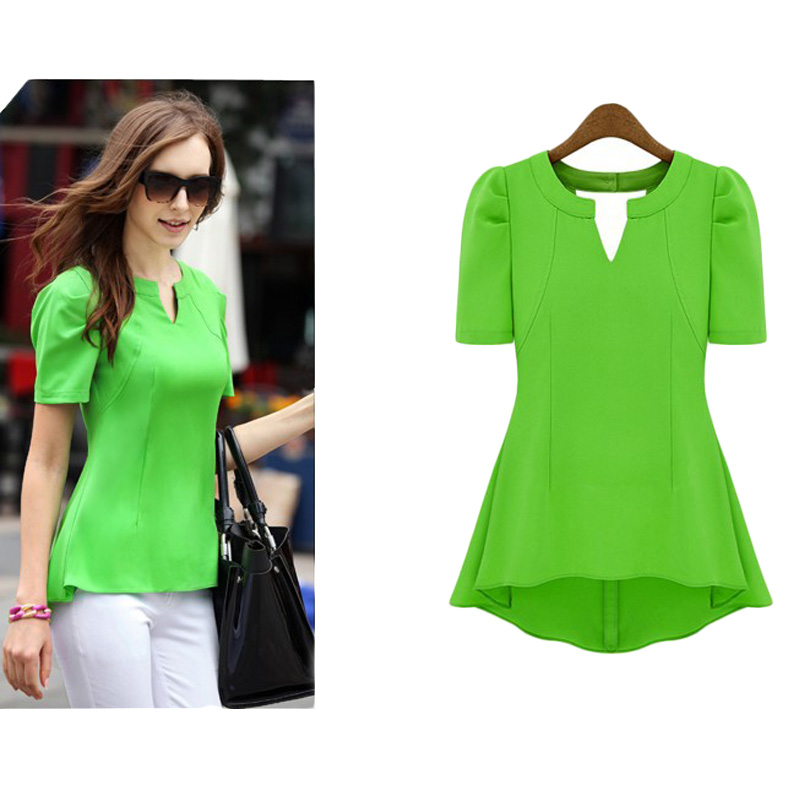 Womens Green Shirt Blouse | Is Shirt