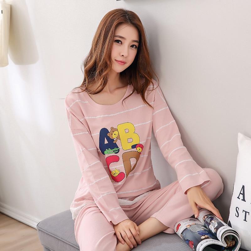51f8da54e7449 ᐂ2017 Демисезонный высокое качество Для женщин хлопковые пижамы с ...