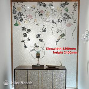 Art-Murals Tile House-Decoration Flower-Pattern Mosaic Customized of Pearl for Interior