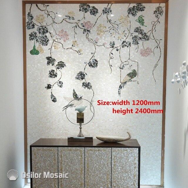 Murales Per Interni Casa.Su Misura Handmade Di Arte Del Mosaico Madreperla Mosaico Di Arte
