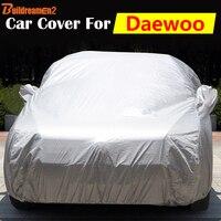 Buildreamen2 Pokrywy Samochodu Śnieg Deszcz Osłona Anty-uv Sun Shade Auto Pokrywa Dla Daewoo Winstorm Veritas Książę Rezzo Nubira Matiz
