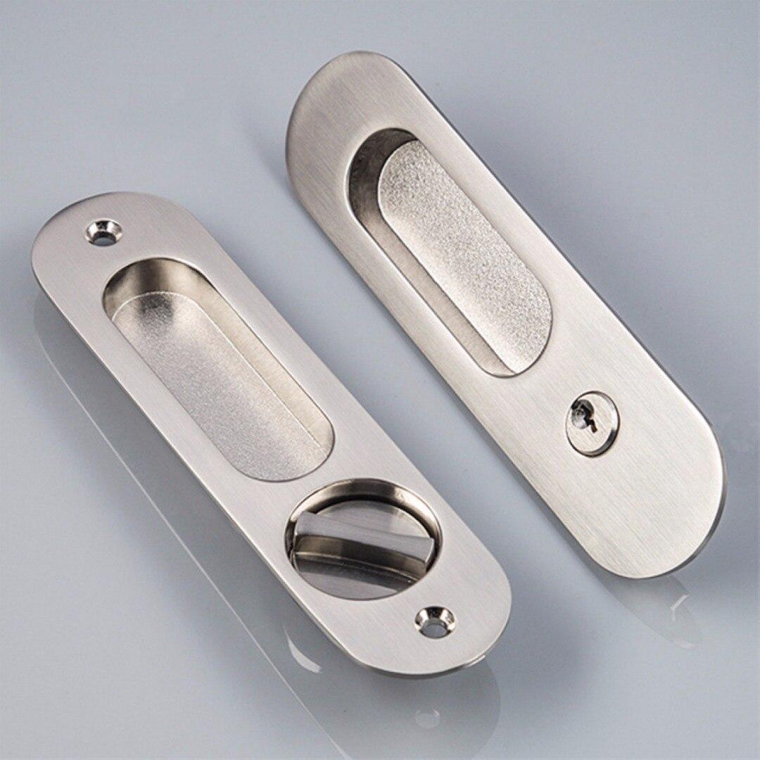 Zinc Alloy Sliding Door Lock Recessed Invisible Handle Door Cabinet ...