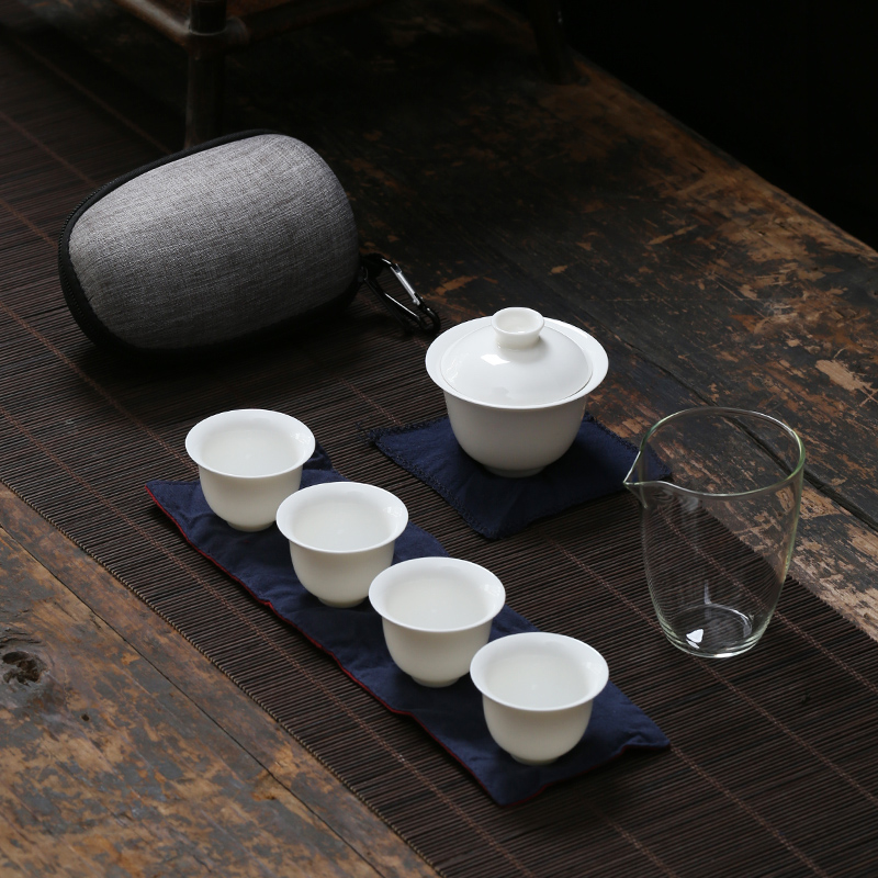 TANGPIN ceramic teapots gaiwan teacups chinese teaware portable travel tea sets with bag