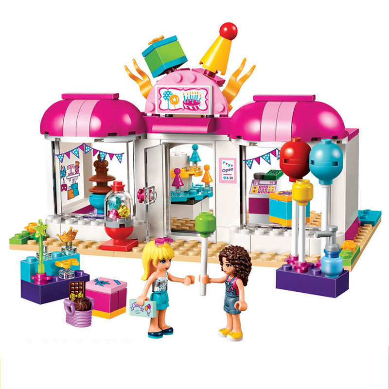 BELA 10557 Friends Series Heartlake Party Shop Gift Store 41127 Building Blocks Toys For Children Girls Christmas Gift Legoings plus size birds print lace up straight leg men s shorts