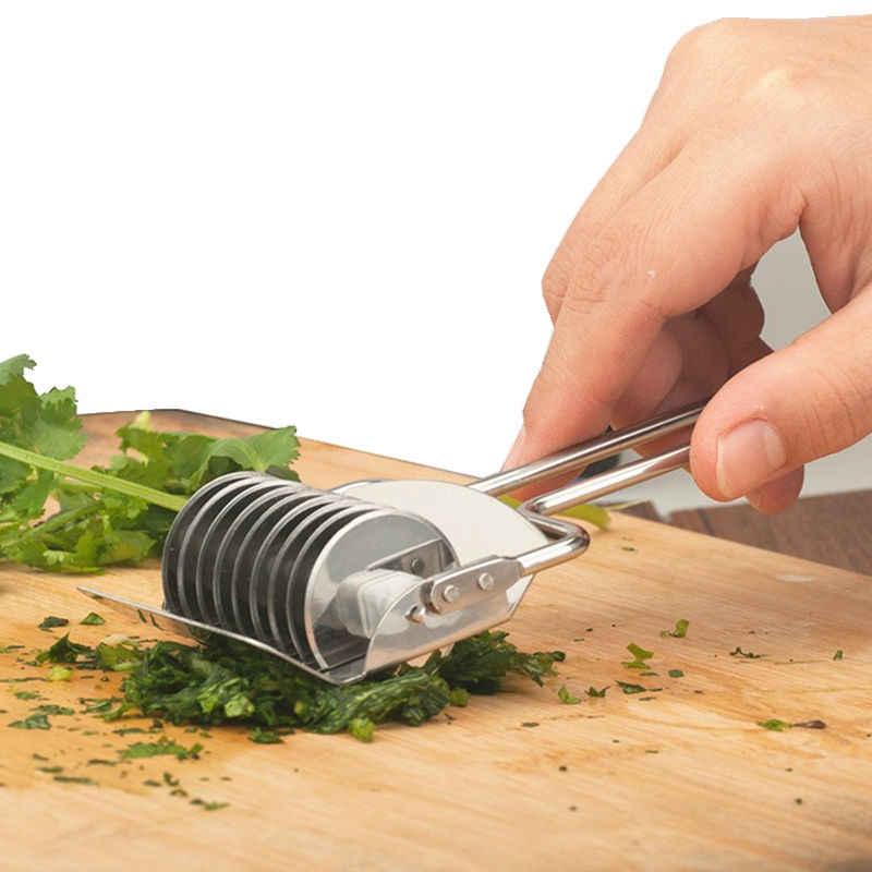 1 Pcs Acessórios Aparelhos de Cozinha de Aço Inoxidável Picador de Cebola Coentro Alho Fatiador Cortador de Ferramentas de Cozinha