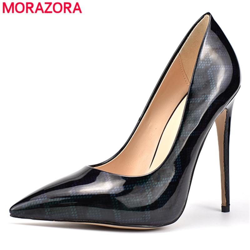 MORAZORA 2018 new arrival pumps women shoes top quality pu pointed toe shoes shallow elegant stiletto heel office ladies shoes MORAZORA 2018 new arrival pumps women shoes top quality pu pointed toe shoes shallow elegant stiletto heel office ladies shoes
