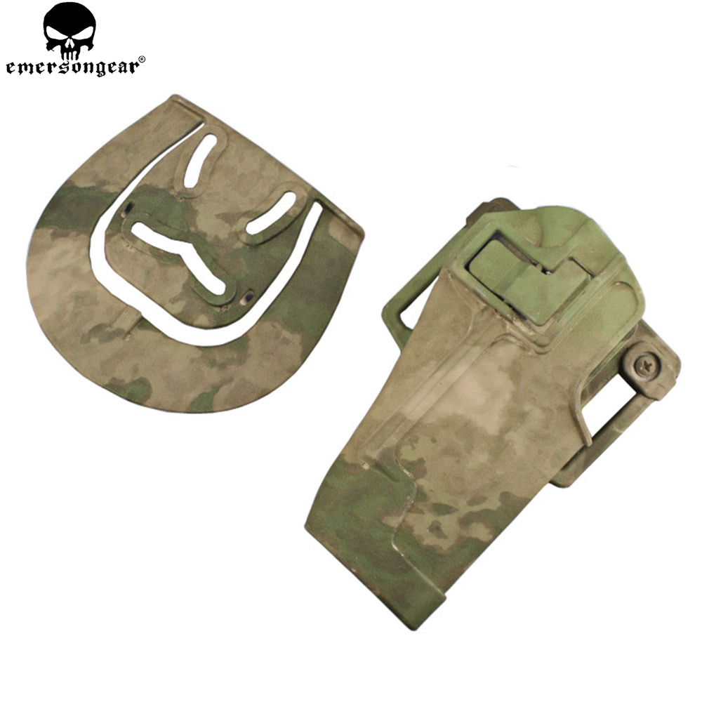 Emersongear Quickly Pistol Holster For 1911 Plastic Holster Magazine Pouch Tactical Hunting Airsoft 1911 Holster Multicam EM6096 image