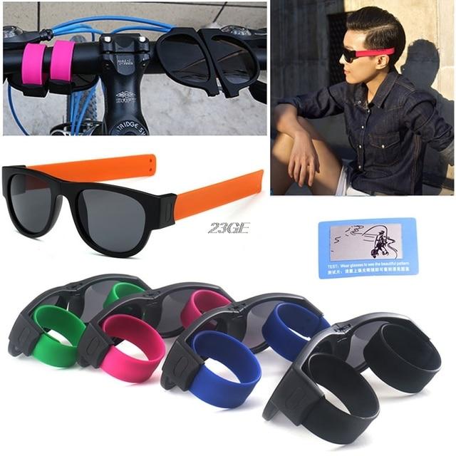166410c238 2018 New Slap Sunglasses Fashion Creative Wristband Slappable Glasses Snap  Bracelet Bands