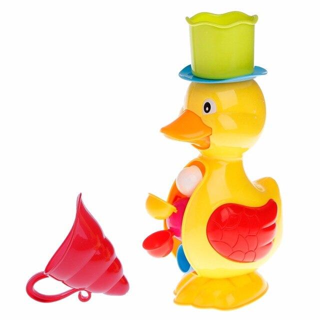 Cute Duck Bath Shower Wheel Toy Baby Children Water Spraying Tool Bathroom Gift