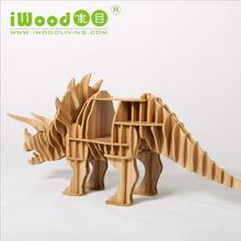 European Nordic artistic home craft ornaments creative home furnishing wood wood crafts simulation dinosaur free shipping