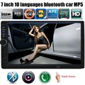 Chegada nova 2 Din multi-linguagem Rádio Do Carro MP5 MP4 Player 7 ''polegadas Tela Sensível Ao Toque Do Bluetooth HD Stereo Audio/Video/TF USB Auxina FM