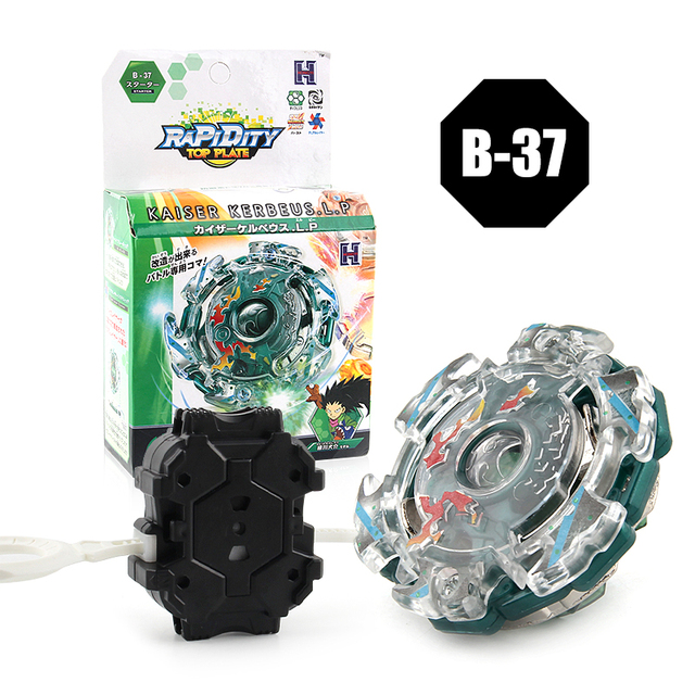 1 pc Spinning Top Beyblade With Launcher And Original Box 3056 B37 Metal ABS Fusion 4D Classic Toys Gift For Children Adults