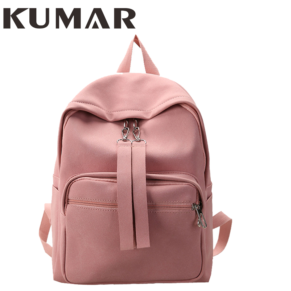 Women Mochila Kanken Backpacks Solid PU Leather Scrub Candy Color Backpack Girls Backpack School Bag Student Travel Bag Rucksack
