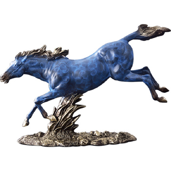 European Style Horse Statues Home Decor Crafts Vintage Resin Horse Figurine Steed For Office Bar Animal Ornaments R1387