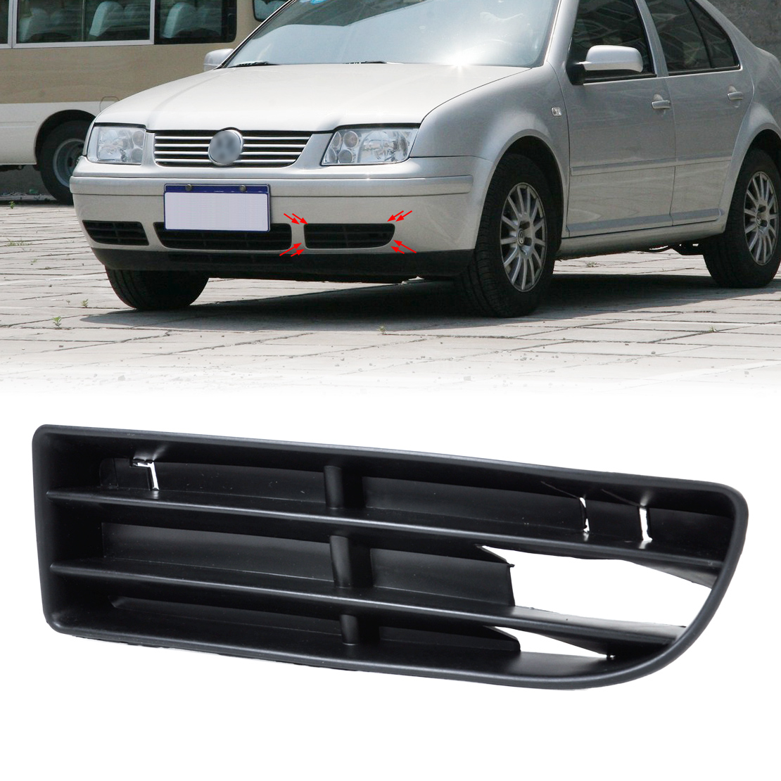DWCX 1J5853665B Front Left Side Bumper Lower Grill Vent for VW Jetta Bora MK4 1999  2000 2001 2002 2003 2004 jeazea glove box light storage compartment lamp 1j0947301 1j0 947 301 for vw jetta golf bora octavia 2000 2001 2002 2003 2004