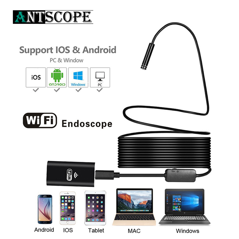 8LED Hard Flexible Snake USB WIFI Endoscope Android Camera HD720P 8mm 2MP Iphone Endoscope Waterproof Pipe Inspection Camera 19 вентилятор exegate mirage 50x10h 5010m12h 253943