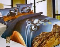 Race Car Kids Boys Motorcycle Bedding Set Duvet Cover Cartoon Twin Size Bedspreads Bed In A