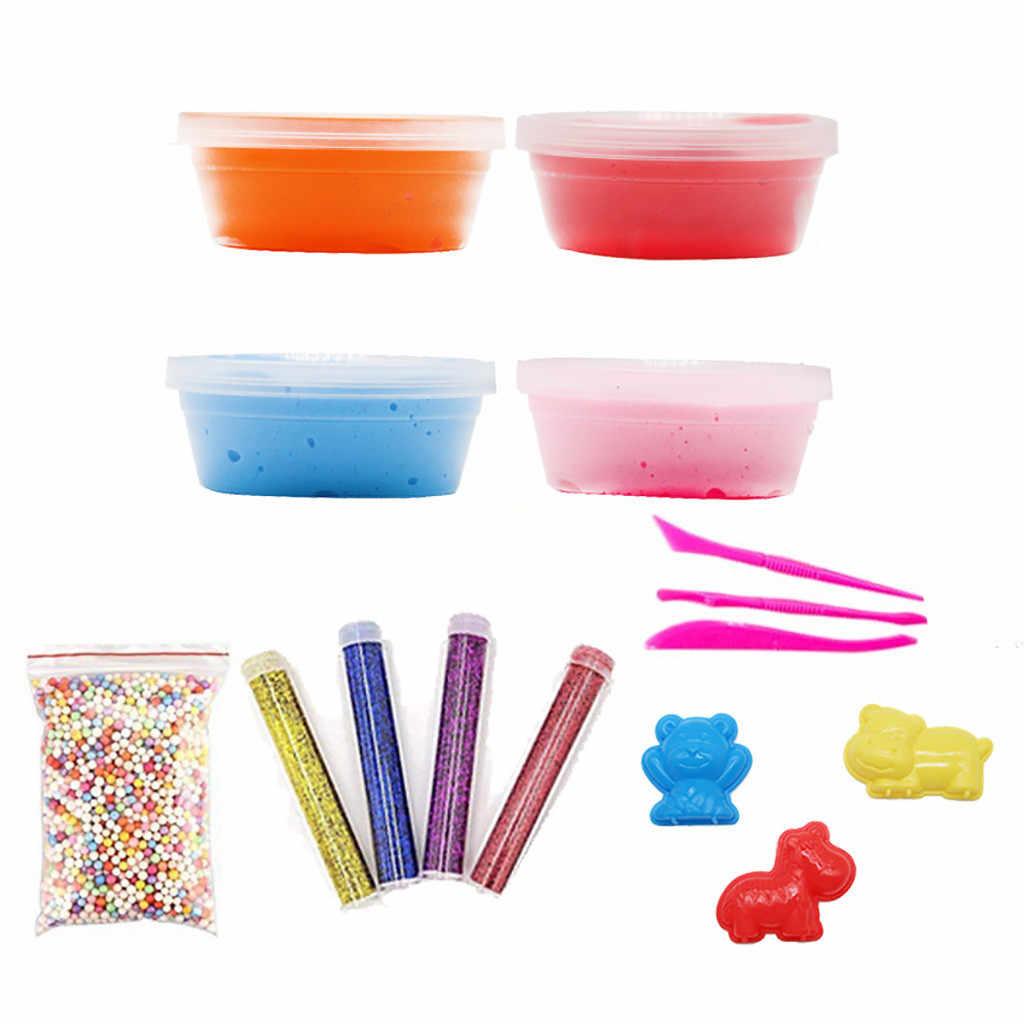 """MUQGEW глина """"сделай сам"""" Пушистый набор поставки прозрачный кристалл слизь делая набор Slime Штурмовое снаряжение глиняная глина Slime поставки антистрессовые игрушки"""