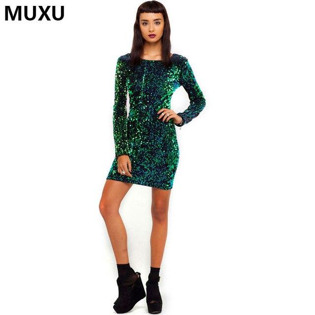 Sequin green dress long