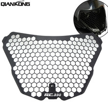 Motorcycle Accessories CNC Headlight Guard Grille Protector Cover Protectors For KTM RC390 RC 390 rc390 rc 2014 2015 2016