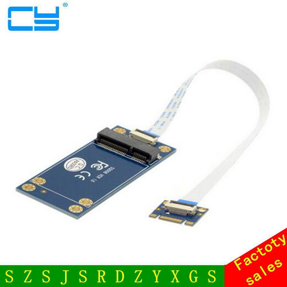 50mm Mini PCI-E 52Pin mSATA SSD to M.2 NGFF B-key Adapter Add on Cards PCBA cy u3 179 bk 50mm mini pci e msata 6gbps solid state ssd to usb 3 0 hard disk enclosure black