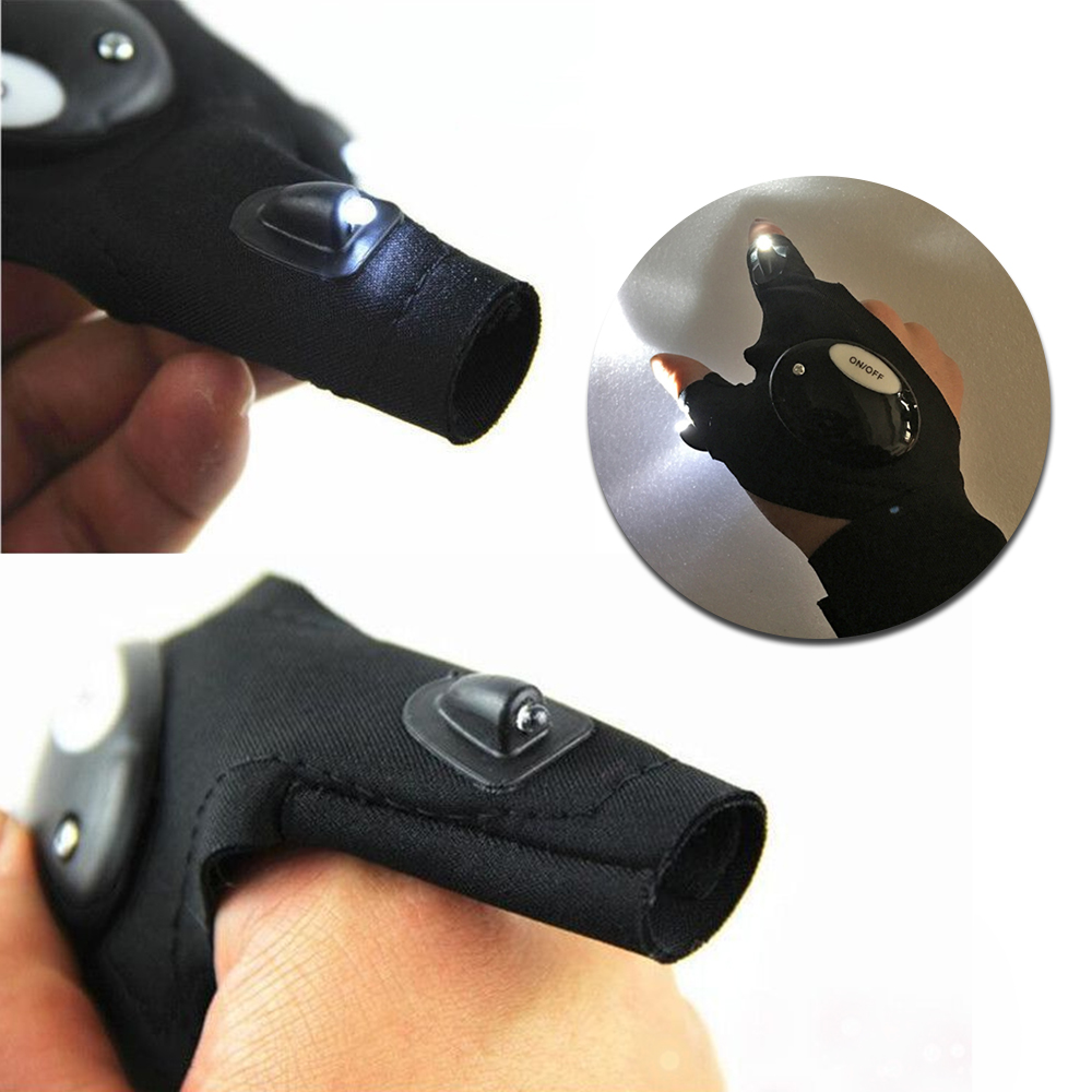 Repairing Finger Light LED Glove Flashlight Torch for Camping Hiking Fishing Mini Portable Lighting Multi-use Lamp