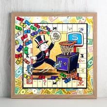 Air Jordan monólicamente lienzo Vintage pintura dinero pared arte lienzo cartel HD impresión decorativa sala de estar imagen hogar Decoración