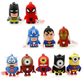 Garunk New Batman usb flash drive new hot pendrive Captain America super hero minions pen drive 32GB 16GB 8GB 4G cartoon usb 2.0