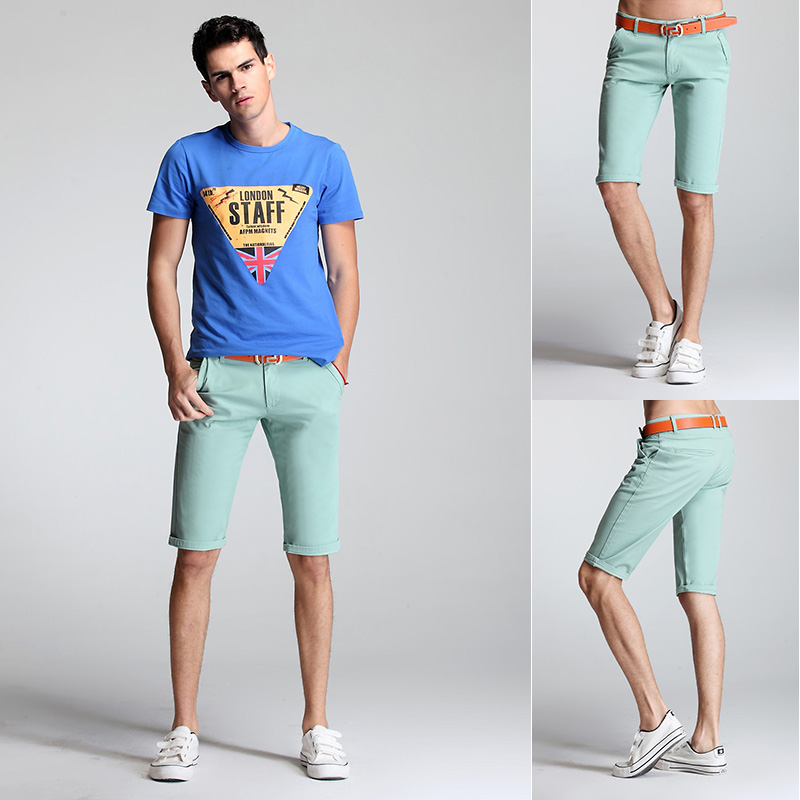 2014 new K3312p60 2014 summer mint color casual shorts elastic ...
