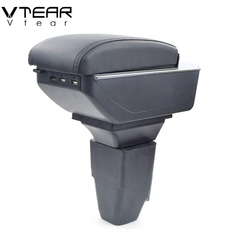 vtear for peugeot 206 207 armrest box usb charging interface heighten central store content box. Black Bedroom Furniture Sets. Home Design Ideas