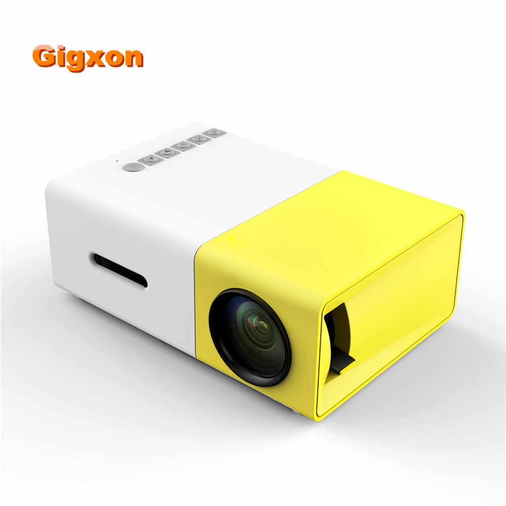 Gigxon G19 Мини проектор 320*240 поддержка HD 1080 P цифровой проектор для домашнего кинотеатра проектор AV USB SD карты HDMI для TV Box ноутбук ПК дома