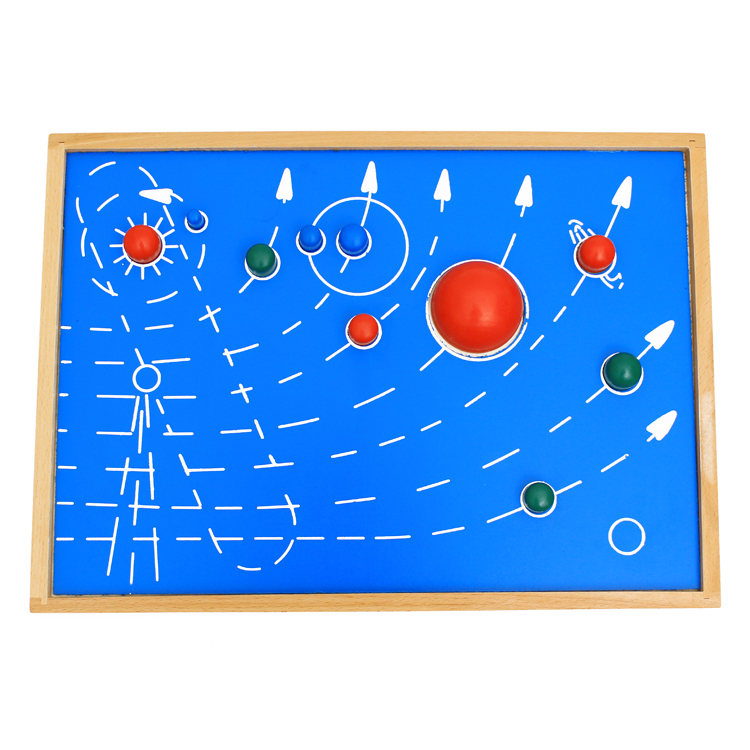 Free Shipping!Baby Toys Montessori The Solar System Wooden Toys Nine Planets Puzzle Toy Educational toys gift the planets