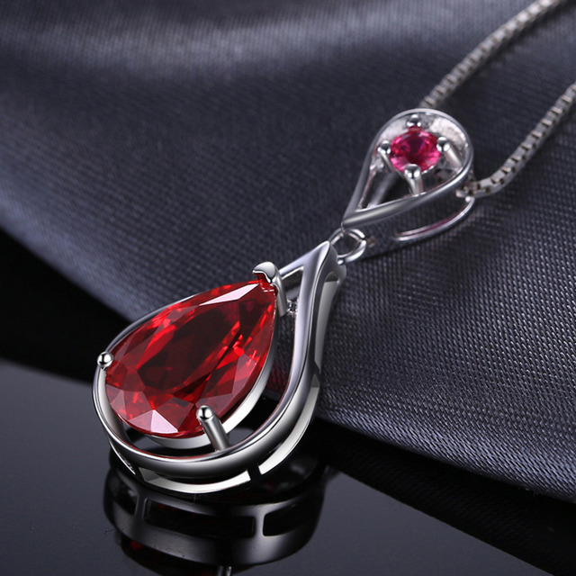 Water Drop Red Ruby Pendant