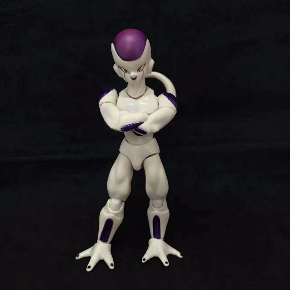 SHFiguarts Anime Dragon Ball Z The Final Form Frieza PVC Action Figures Collectible Model Kids Toys Doll 12cm shfiguarts dragon ball z vegeta pvc action figure collectible model toy 6 5 16cm