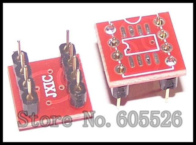 10PCS SOP8 to DIP8 SOP8 turn DIP8 SOIC8 to DIP8 IC socket   New And Original Parts (SOP pinDIP) +Pin Header