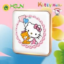 Type 86 Cartoon art switch Hello Kitty Socket 1 2 3 4 gang way ividuality creativity Decorative panel 5-hole socket