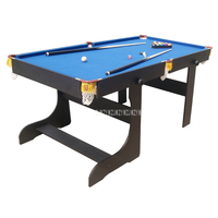 SUB 7236F American Style 6 feet Wood Foldabe Billiard Table With 16pcs Balls 2 Cue Strong Frame and leg Sport Equipment Snooker