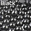 Mélange de demi perles noires