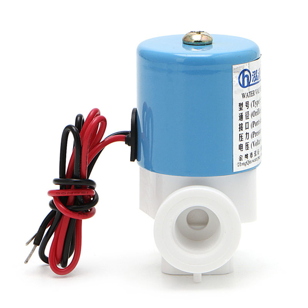 "Practical G1/4"" HQV1 Solenoid Valve Plastic Normally Closed 2 Way 12V DC 0-120PSI 0-0.8MPa Miniature Valves  40*30*60mm"
