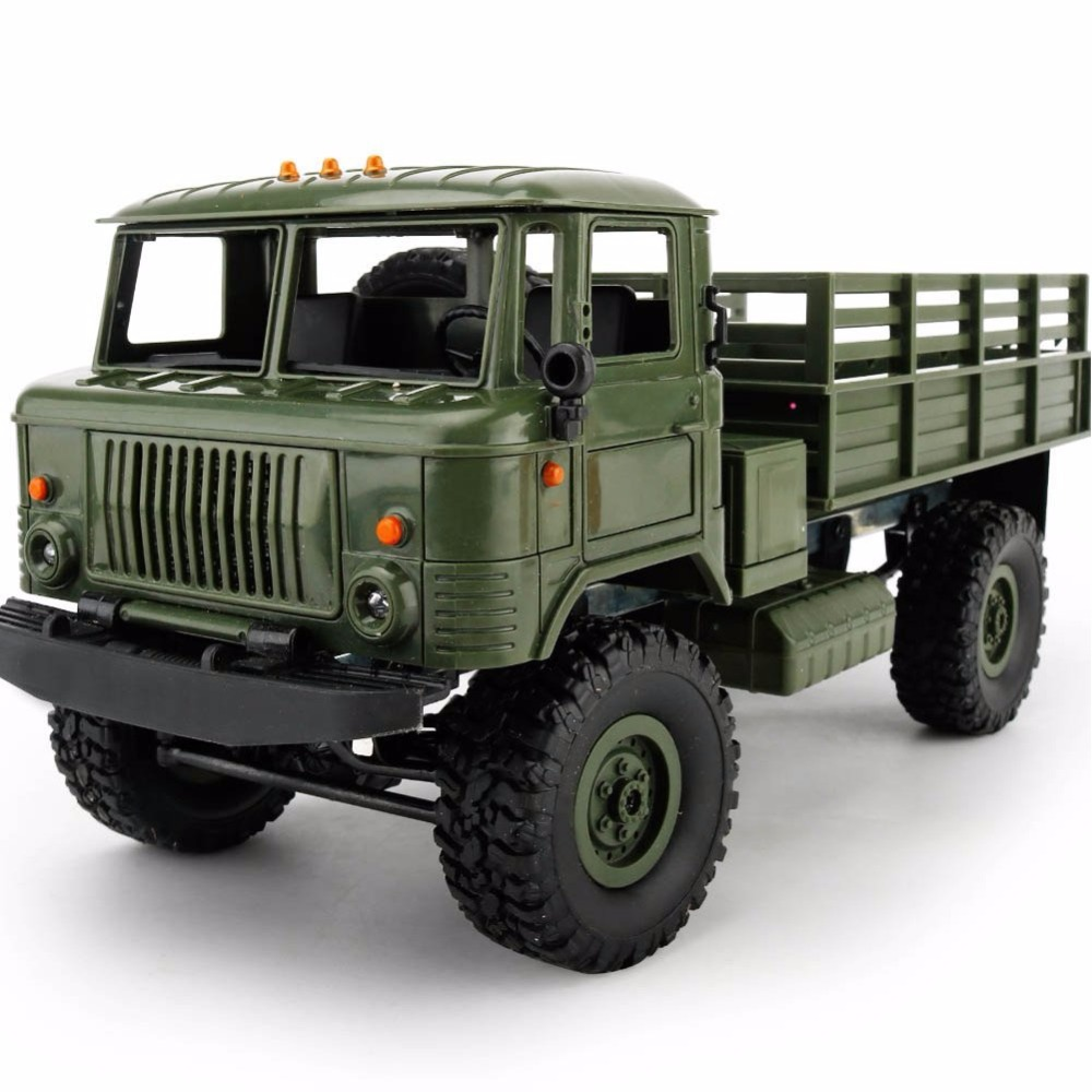 WPL B-24 Complete set Remote Control Military Truck DIY Off-Road RC Car Model Remote Control Climbing Car Birthday Gift Toys