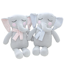 HQ Cute Elephant Soft Plush Toy Elephant Stuffed Animal Baby Appease Kids Gift Animals Doll Stuffed Toys Doll NTDIZ1009 cute soft baby elephant doll stuffed animals plush pillow kids toy children christmas bed decoration babies plush toys cushion