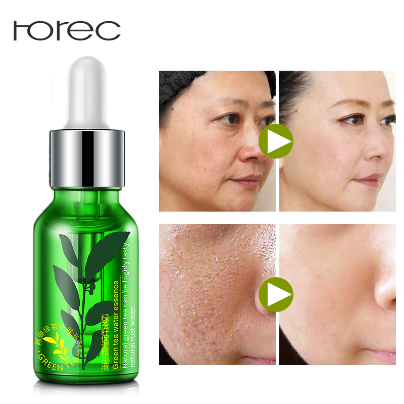 цены ROREC Moisturizing Face Serum Facial Essence Whitening for Face Repair Skin Care Anti Wrinkle Anti-aging Green Tea Seed Extract