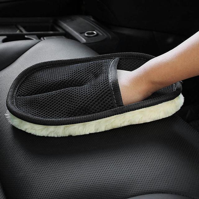 Car Cleaning Gloves Sponge Brush.