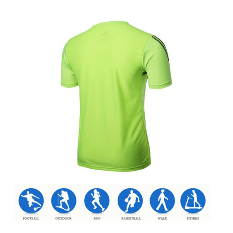 High Quality Gym Running T Shirt Men Quick Dry Fit Shirts Stretch Tee Male Crossfit Tops