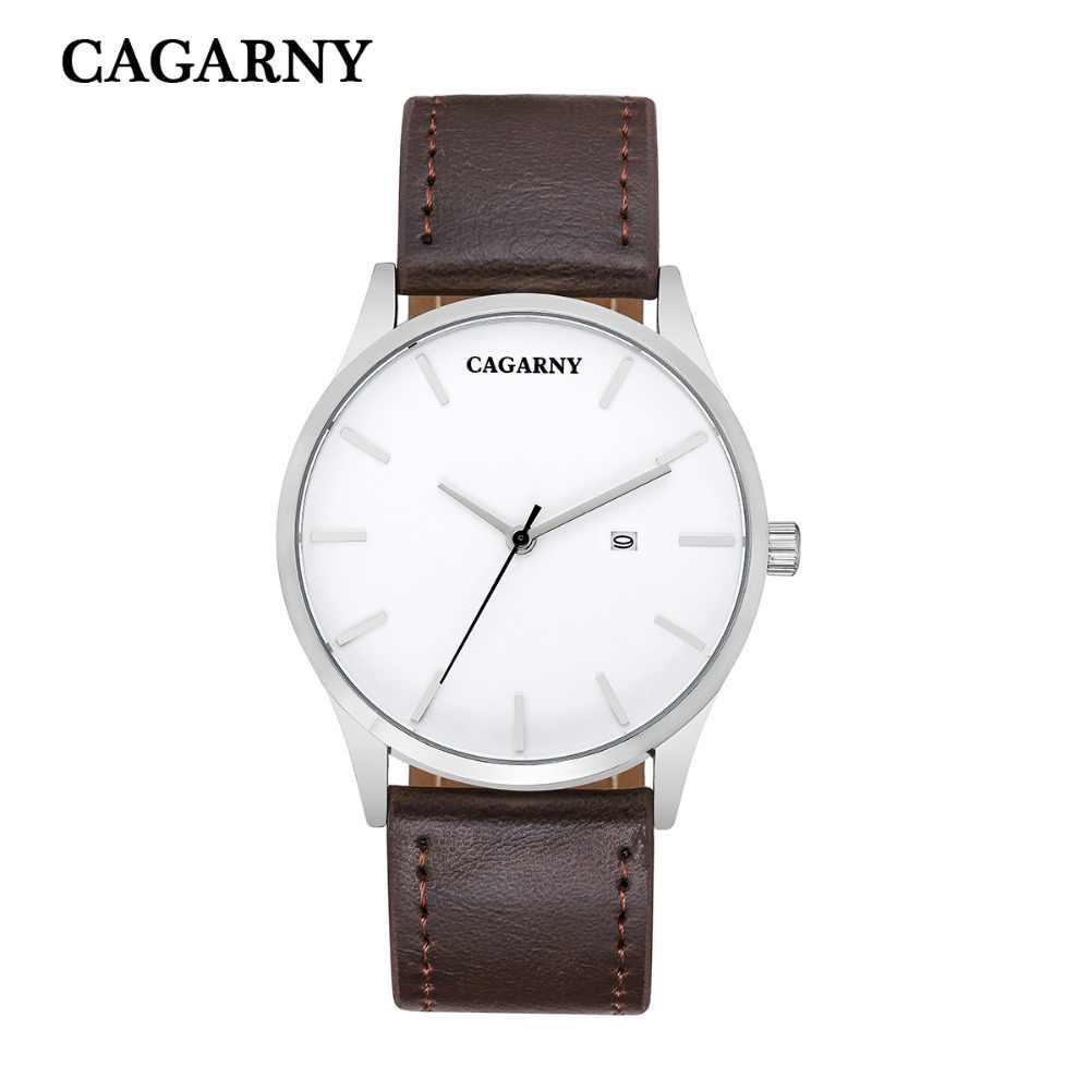 Relojes de estilo de moda 2019, relojes de marca de lujo CAGARNY para hombres y mujeres, reloj de cuarzo Retro, reloj masculino para regalo
