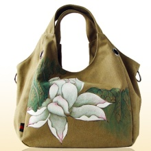 Chinese Special retro folk style canvas handbag